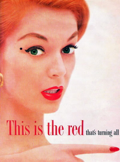 NEW Revlon Ads ~ 1950s Blog_Revlon_1955_JeanP_CertainlyRed