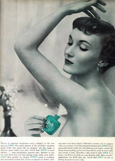 NEW Beauty Ads of Top 50s Models ~ Evelyn Elinor Rita Blog_Sprite_Deodorant_1954_EvelynTr