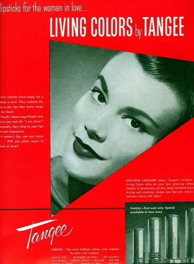 NEW Beauty Ads ~ 1950s Blog_Tangee_1955_LeonieVernet_HeadS