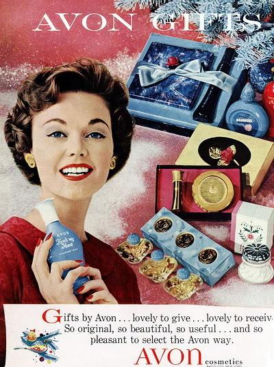 Avon Christmas Ads ~ 1944-1971 Blog_Xmas_Avon_1958_Pat_Geoghegan