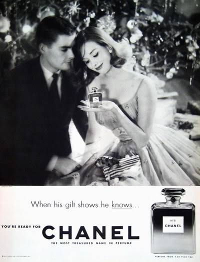 Chanel Christmas Ads ~ 1939-1969 Blog_Xmas_Chanel_1959_Dec_17_UnderTree