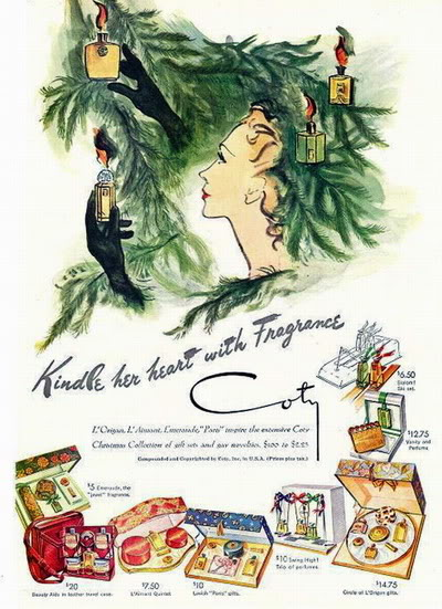 Cosmetics Christmas Ads ~ 1943-1963 Blog_Xmas_Coty_1946_Xmas_KindleHeart