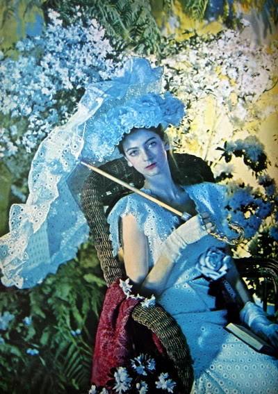 """Carmen Dell'Orefice ~ """"Summer Beauty"""" 1946 CarmenDO_1946_July_Vogue_66_CecilBe"""