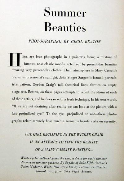 """Carmen Dell'Orefice ~ """"Summer Beauty"""" 1946 CarmenDO_1946_July_Vogue_67_CecilBe"""