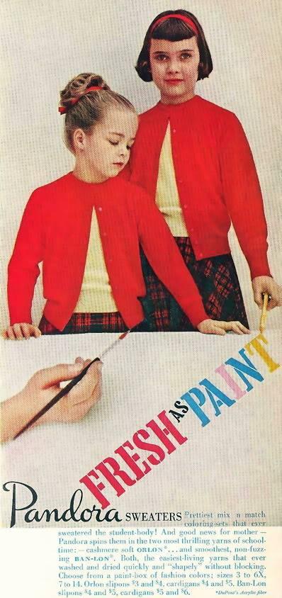New Albums in Bonnie's Sixties Models & Ads: 2 Karens KarenWeiler_1957_Pandora