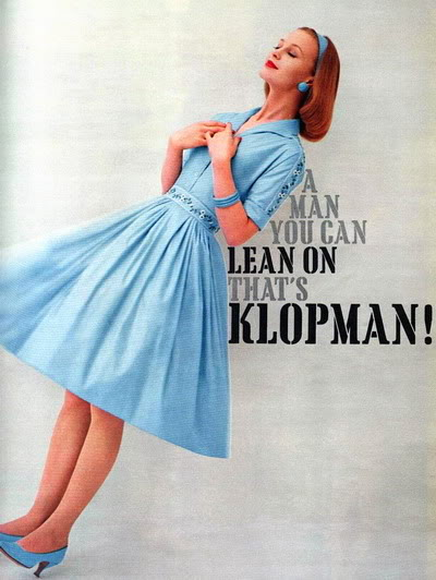 FORTIES/FIFTIES SUPER MODELS - Click Here Klopman_1960_Ann_Klem
