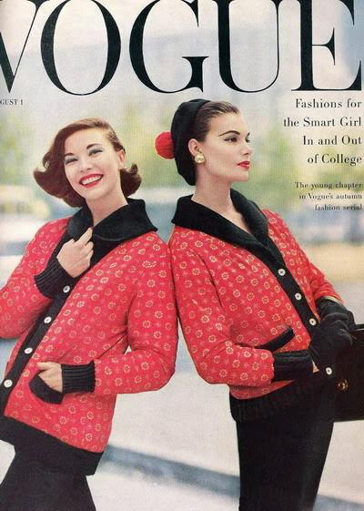 Soda Jerk & Fashion Model ~ Leonie Vernet 1950s LeonieVernet_1955_Aug_Vogue_Cover_R