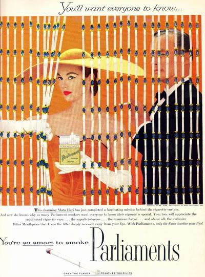 Soda Jerk & Fashion Model ~ Leonie Vernet 1950s LeonieVernet_1956_Parliment_Cig_Ad_