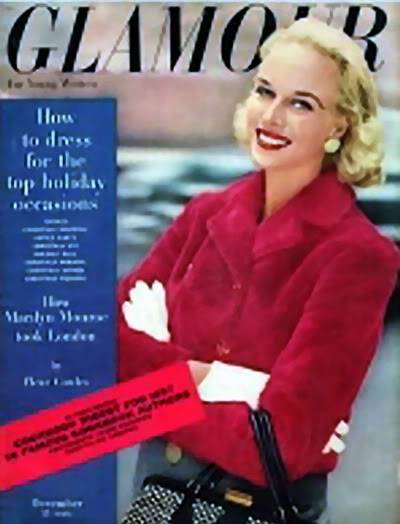 """2 Patsys: New Albums in """"Top 50's Models"""" Patsy_Pulitzer_1956_Dec_Glamour_BP"""