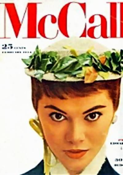 """2 Patsys: New Albums in """"Top 50's Models"""" Patsy_Shally_1954_Feb_McCalls_BP"""