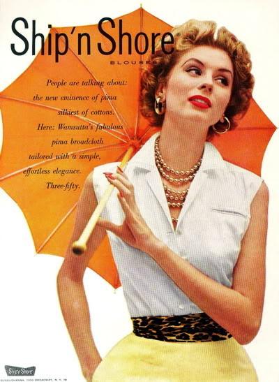 New Albums in Bonnie's Top 50's Models & Sixties Models & Ads: Ship'n Shore ShipNShore_1952_SuzyP