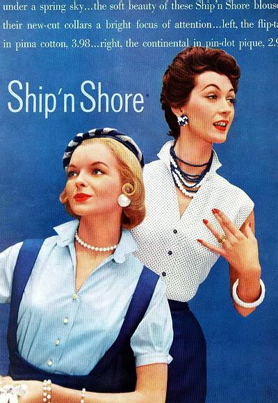 New Albums in Bonnie's Top 50's Models & Sixties Models & Ads: Ship'n Shore ShipNShore_1955_LoisGunasWideman_Do
