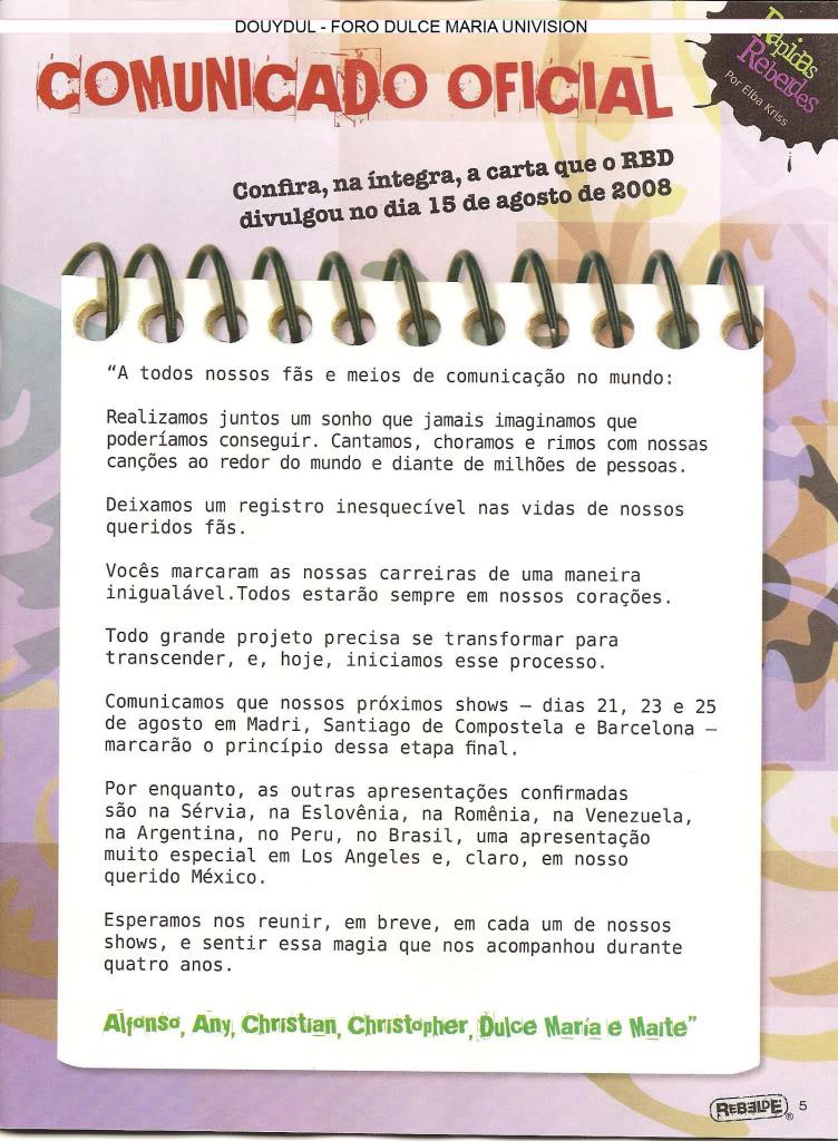 Scans Revista Rebelde #28 - Brasil 04