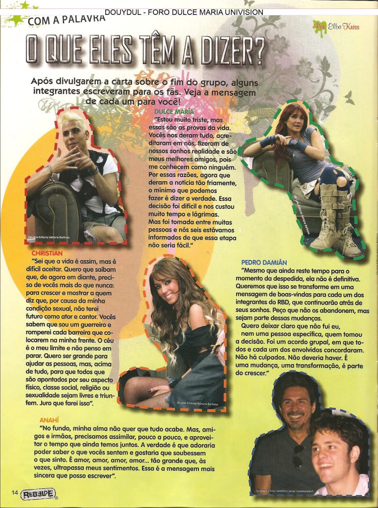 Scans Revista Rebelde #28 - Brasil 13