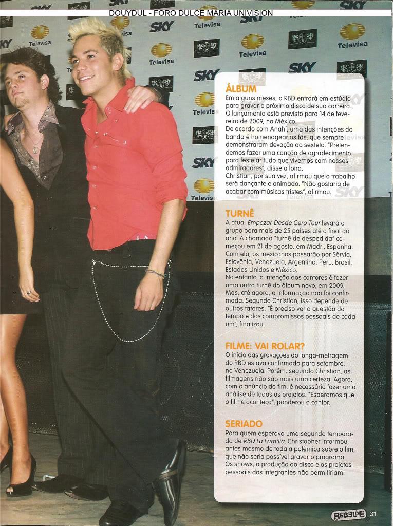 Scans Revista Rebelde #28 - Brasil 26