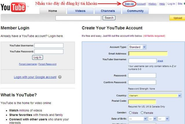 Hướng dẫn upload video lên youtobe.com và post lên 4rum 1
