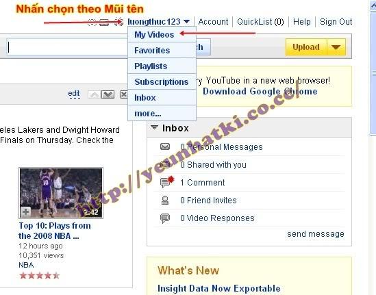 Hướng dẫn upload video lên youtobe.com và post lên 4rum A1
