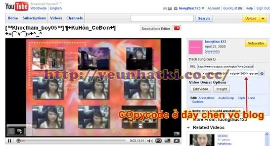 Hướng dẫn upload video lên youtobe.com và post lên 4rum A9