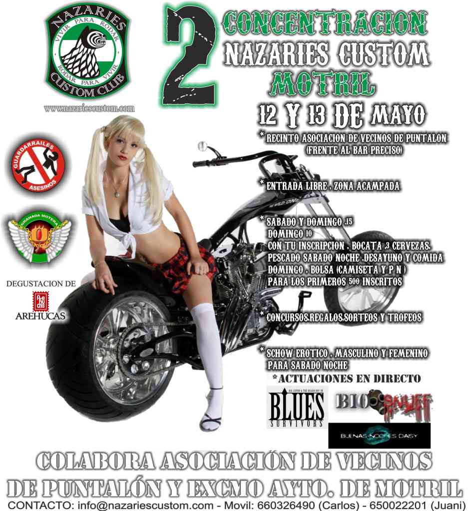 Moto custom de madera CARTELCONCENTRAnzrmotril2012-FACEBOOK