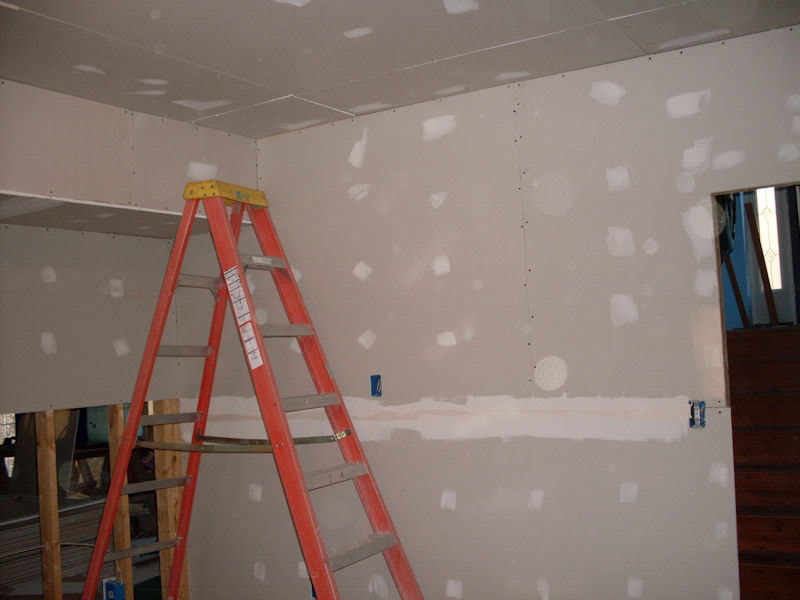 The Fish Room (Round 2) Fishroomdrywall1