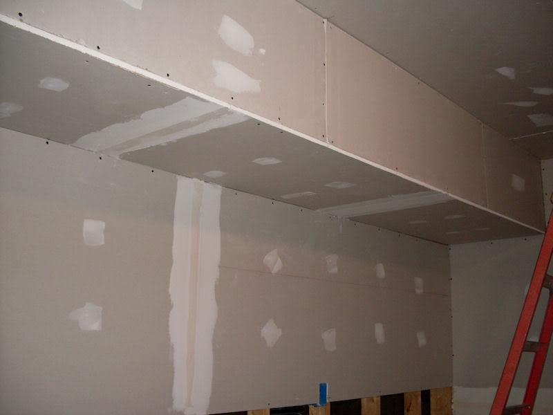 The Fish Room (Round 2) Fishroomdrywall2