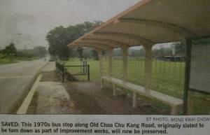 Oldest S'pore bus-stop to be preserved. Busstopnews1