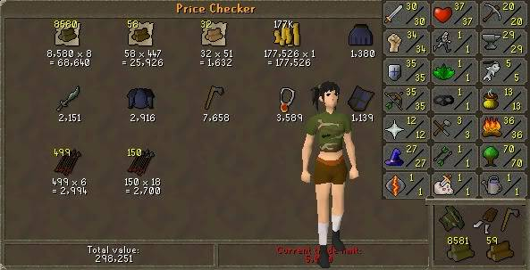 my runescape pure check in weekly Week3