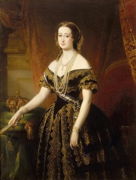Eugenia de Montijo, emperatriz de Francia - Página 2 EugeniepaintedbyDubufe-1