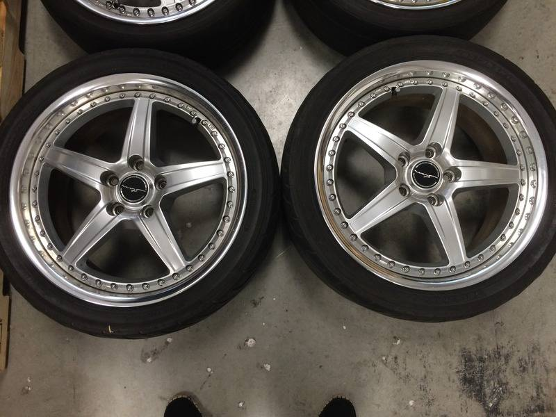 "(rare)JDM Stern wheels (3pc) 18"" 7.5+48/8.5+48 5x114.3 (no tires) F7A07779-FF8B-46CD-B016-7C6EFDB2E9BD"