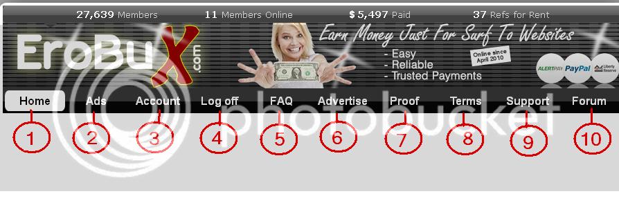 شرح مفصل لموقع الربح المميز Erobux.Com لتحقيق أرباح عن طريق الضغط على الإعلانات 1-36