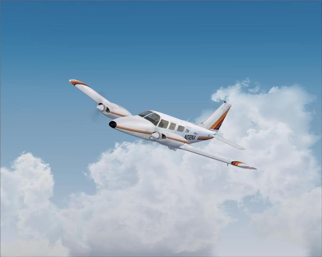 (FS9) PA34 Seneca aterra na Madeira Fs92011-04-2620-27-54-35