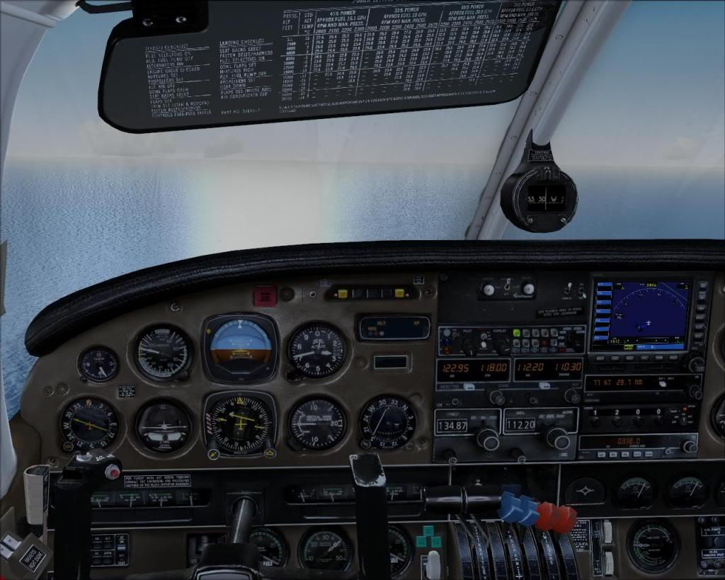 (FS9) PA34 Seneca aterra na Madeira Fs92011-04-2620-28-31-56
