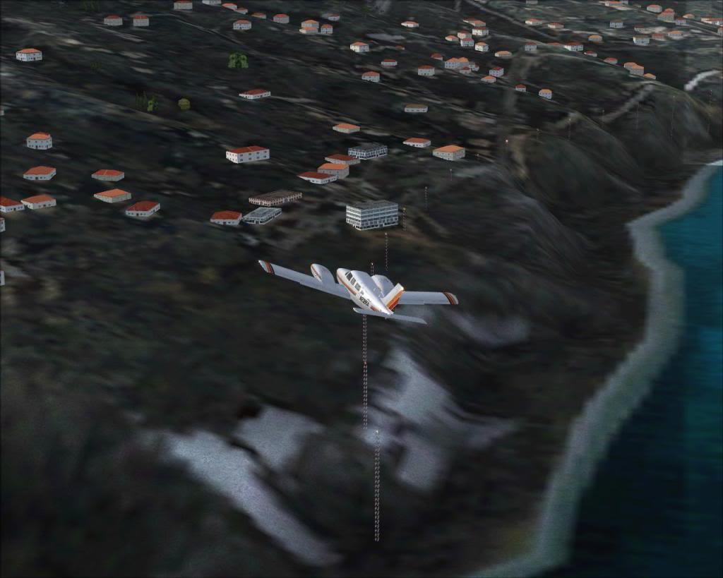 (FS9) PA34 Seneca aterra na Madeira Fs92011-04-2621-29-59-90