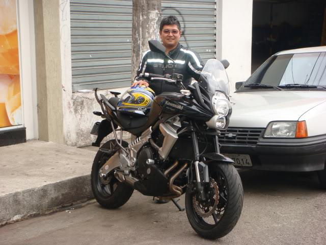 É a minha Kawasaki Versys - Monster na Área!!! DSC00210