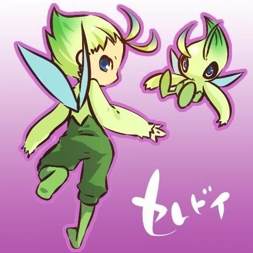 pokemon sprites and images Celebi