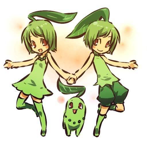 pokemon sprites and images Chikorita
