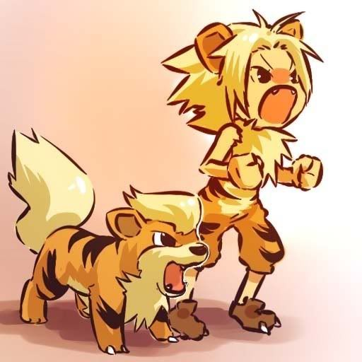 pokemon sprites and images Growlithe