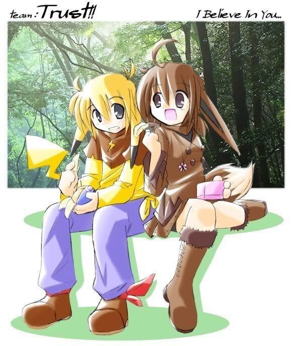 pokemon sprites and images Pikachu_Eevee