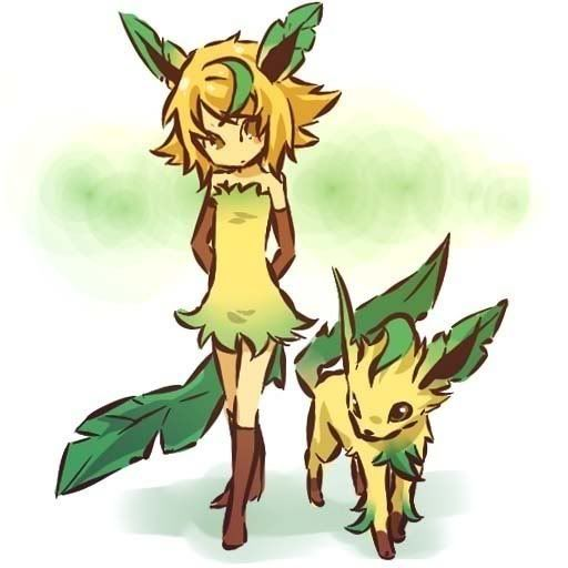 pokemon sprites and images Leafeon