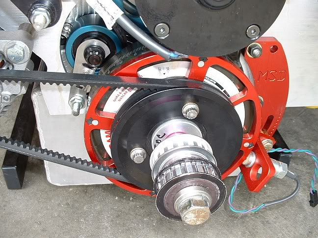 Crank pulley for racing alternator Drive