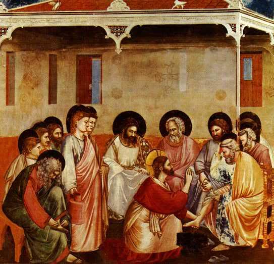 Piav txog lub Koom Txoos rau cov me nyuam yaus Jesuswashesthedisciplesfeet