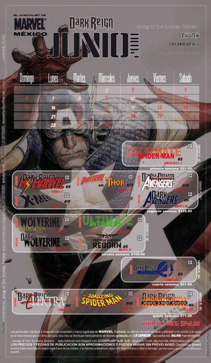 La lista del mes(Marvel) Checklist-junio-2010