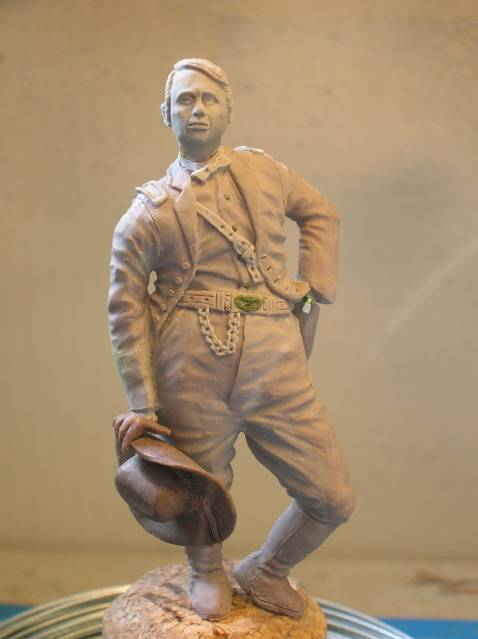 FIG maison:US civil war Gal F. BARLOW  [70mm Sculpey Firm] Début de la couleur... DSCN9260