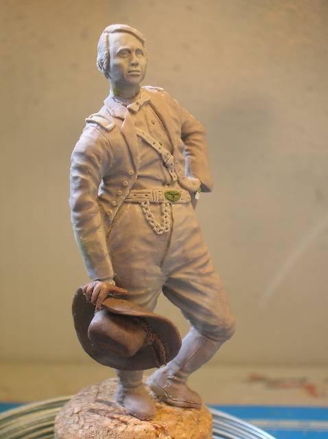 FIG maison:US civil war Gal F. BARLOW  [70mm Sculpey Firm] Début de la couleur... DSCN9261