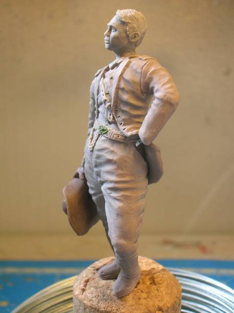 FIG maison:US civil war Gal F. BARLOW  [70mm Sculpey Firm] Début de la couleur... DSCN9267