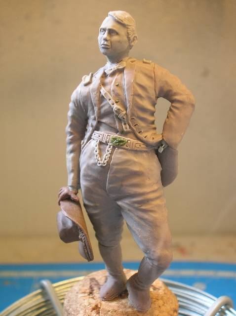 FIG maison:US civil war Gal F. BARLOW  [70mm Sculpey Firm] Début de la couleur... DSCN9268