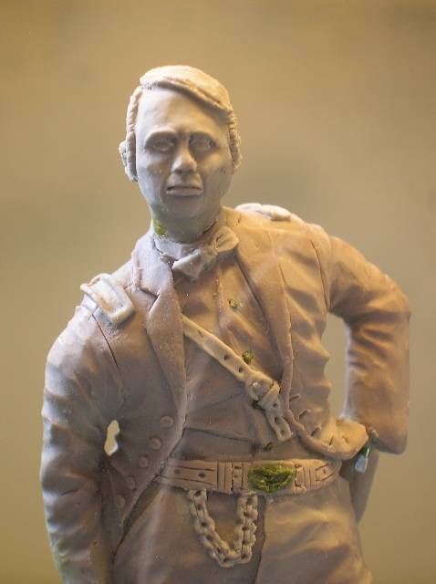 FIG maison:US civil war Gal F. BARLOW  [70mm Sculpey Firm] Début de la couleur... DSCN9269
