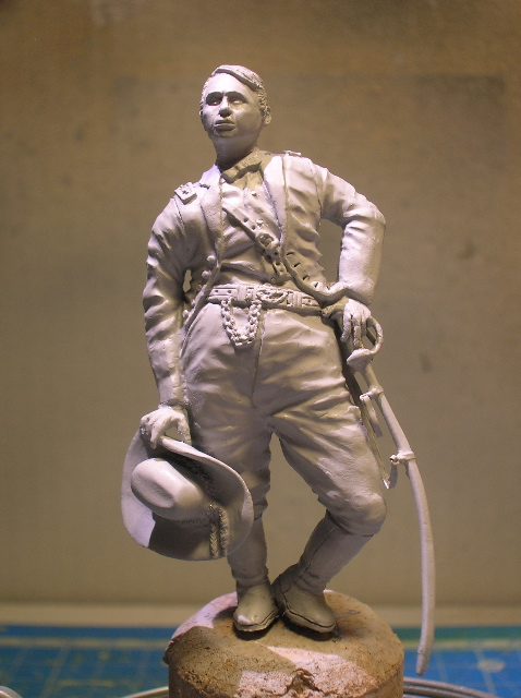 FIG maison:US civil war Gal F. BARLOW  [70mm Sculpey Firm] Début de la couleur... DSCN9415