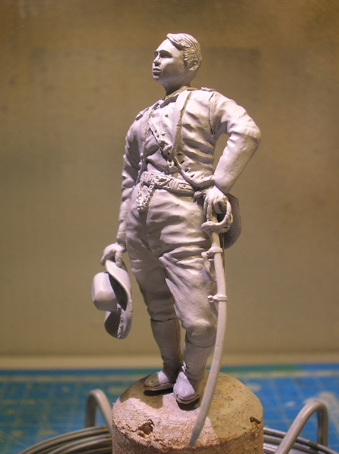 FIG maison:US civil war Gal F. BARLOW  [70mm Sculpey Firm] Début de la couleur... DSCN9423