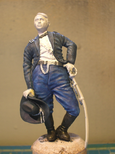 FIG maison:US civil war Gal F. BARLOW  [70mm Sculpey Firm] Début de la couleur... DSCN9480